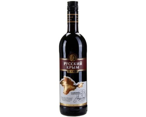 Вино Русский Крым Каберне, столовое, красное, сухое, 11-13%, 0,75 л