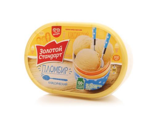 Мороженое пломбир 'Классический' ТМ Золотой стандарт