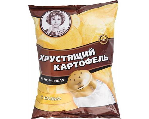 Чипсы картофельные ТМ Хрустящий картофель, в ломтиках, с солью, 160 г