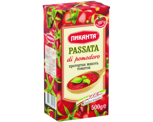 Протертая мякоть томатов ТМ Пиканта, 500 г