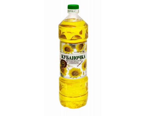 Масло подсолнечное Кубаночка рафинированное дезодорированное 1л пл/б