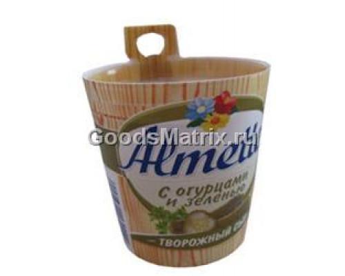 Сыр творожный ТМ Almette (Альметте) с огурцами и зеленью, 150 г
