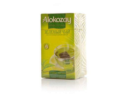 Чай зеленый ТМ Alokozay (Алокозай) Цейлонский, 25 пакетиков по 2 г