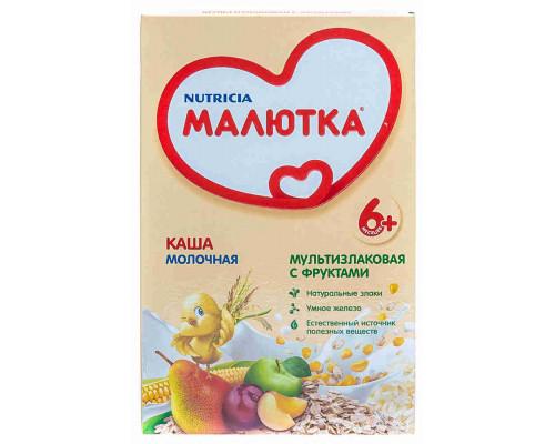 Каша молочная Малютка мультизлаковая с фруктами с 6мес 220г