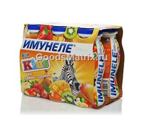 Напиток кисломолочный ТМ Имунеле for kids тутти- фрутти, 6х100 г