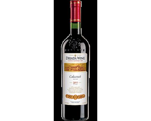 Вино ТМ Driada Cabernet (Дриада Каберне), красное, сухое, 11-13%, 0,75 л
