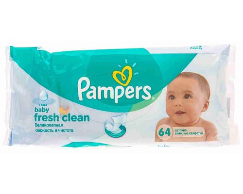 Салфетки детские Pampers Baby Fresh сменный блок 64шт