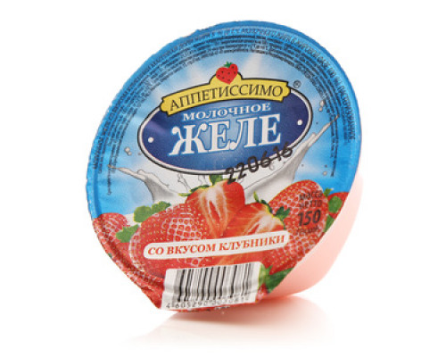 Молочное желе со вкусом клубники ТМ Аппетиссимо