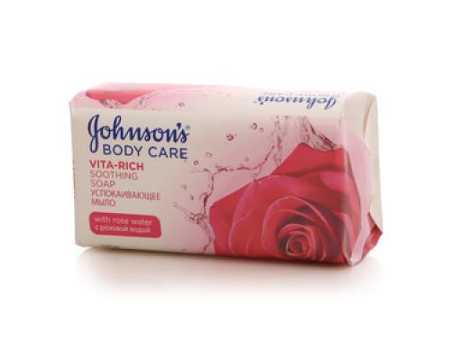 Мыло успакаивающее  Body care Vita-Rich с розовой водой ТМ Johnson`s (Джонсонс)