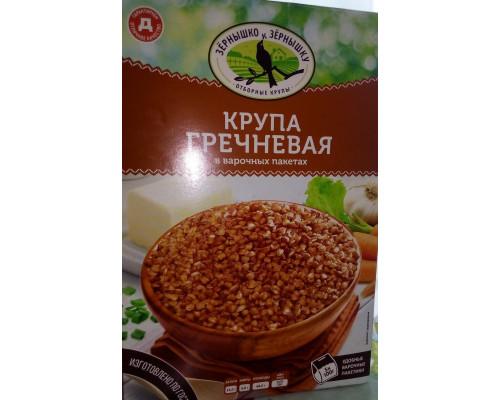 Крупа гречневая ТМ Зернышко к зернышку, 5 пакетиков, 500 г