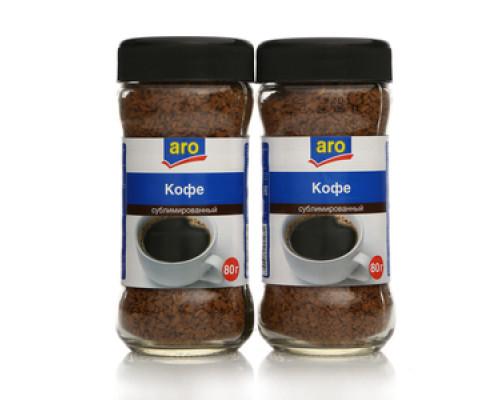 Кофе растворимый сублимированный 2*80г ТМ Aro (Аро)