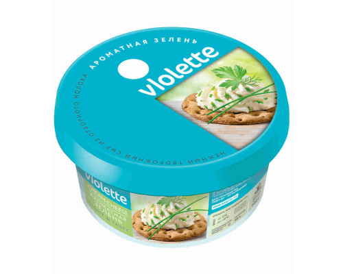 Сыр творожный Карат Виолетта с зеленью 70% 140г пл/кор