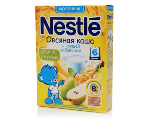 Каша осяная молочная с грушей и бананом ТМ Nestle (Нестле)