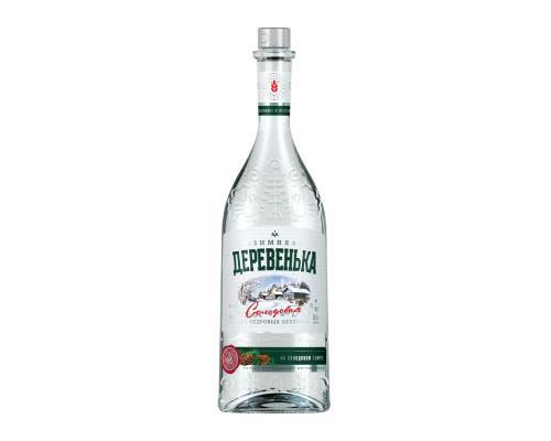 Водка особая Зимняя деревенька, кедровая на солодовом спирте, 40%, 0,5 л
