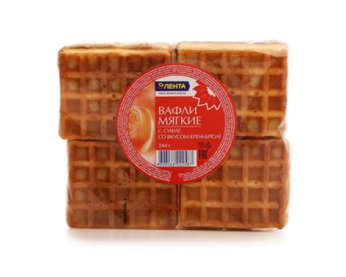 Вафли мягкие с суфле со вкусом крем-брюле ТМ Лента