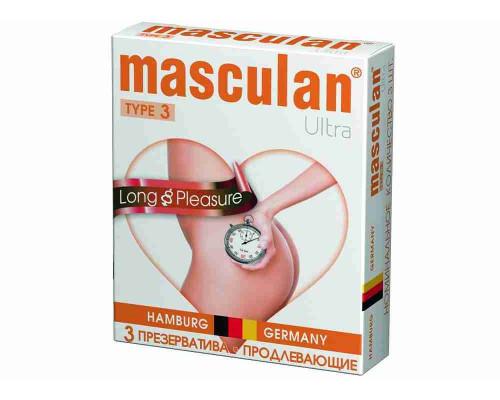 Презервативы Masculan 3 Ultra №3 с колечками/пупырышками/анестетик