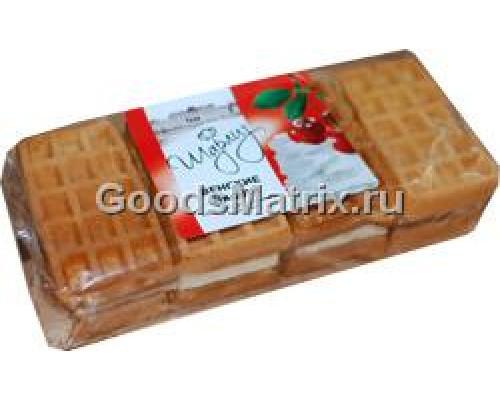 Вафли ТМ Шарлиз мягкие венские, со взбитыми сливками и вишней, 150 г