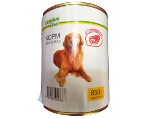 Корм для собак Каждый день, 850г