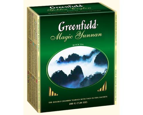 Чай черный ТМ Greenfield (Гринфилд) Magic Yunnan, в пакетиках, 100 шт.