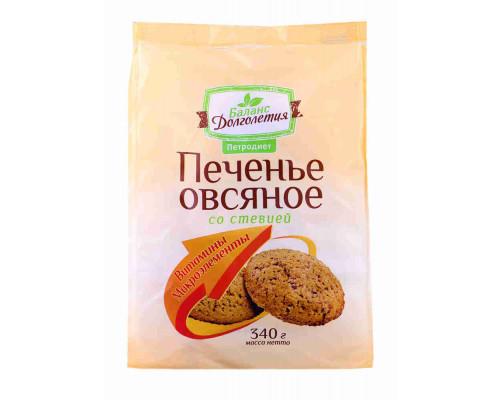 Печенье овсяное Петродиет Баланс долголетия со стевией и витаминно-минеральным комплексом 340г