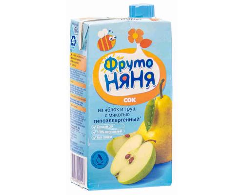 Сок ФрутоНяня яблоко/груша 500мл т/п
