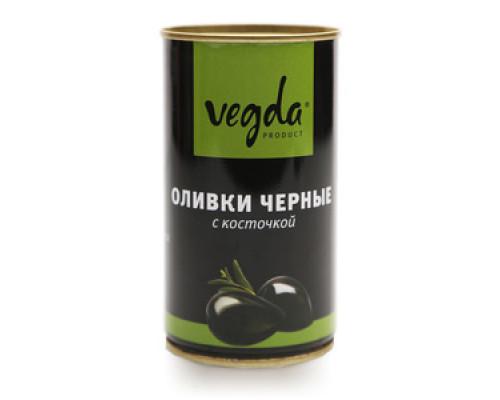 Оливки черные с косточкой ТМ Vegda (Вегда)