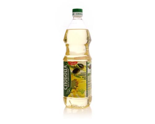 Масло подсолнечное с добавление оливкого масла ТМ Слобода