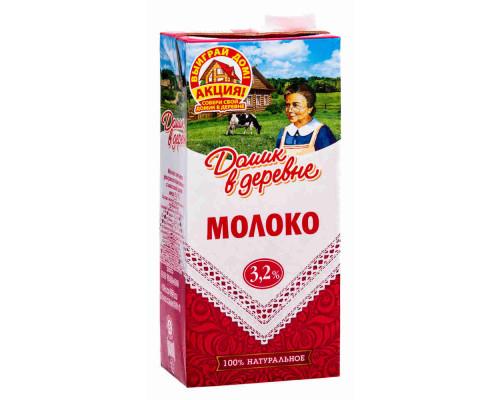 Молоко ТМ Домик в деревне, ультрапастеризованное 3,2% 925 мл