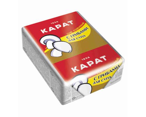 Сыр плавленый Карат с грибами д/супа 55% 90г фольга