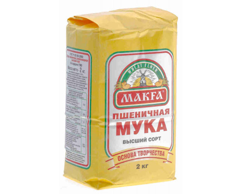 Мука пшеничная Макфа в/с 2кг
