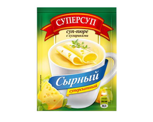 Суп-пюре ТМ Суперсуп Сырный с сухариками, 26,5 г