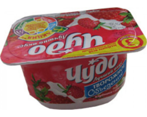 Творожок десерт творожный клубника-земляника 5,4% ТМ Чудо