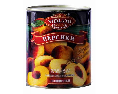 Персики Vitaland половинки 850 мл ж/б