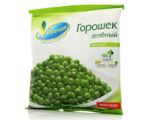 Горошек зелёный замороженный ТМ Vитамин (Витамин)