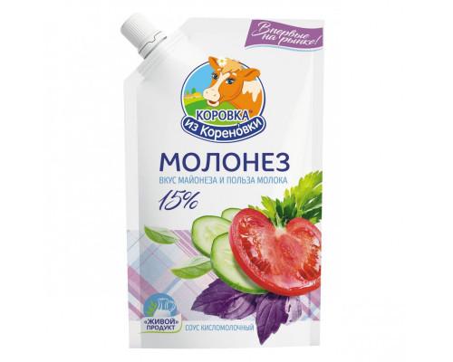 Соус Молонез ТМ Коровка из Кореновки, кисломолочный, 15%, 220 г