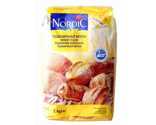 Мука пшеничная Nordic в/с 2кг