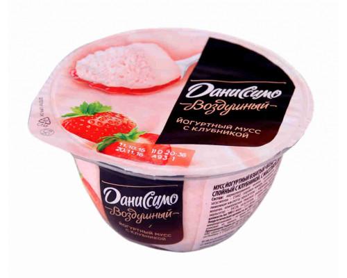 Мусс йогуртный Даниссимо клубничный двухсл с клубникой 5,4% 135мл