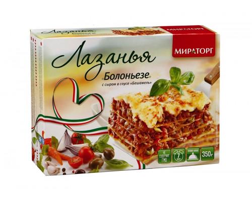 Лазанья Болоньезе ТМ Мираторг с сыром в соусе бешамель, 350 г