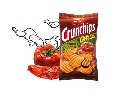 Чипсы ТМ Lorenz (Лоренз) Crunchips Grill Паприка на гриле, 100 г