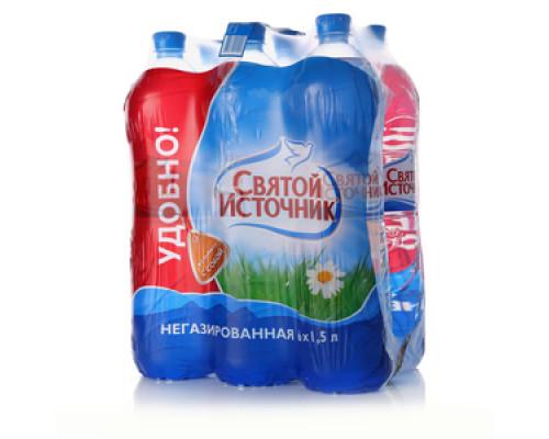 Вода питьевая негазированная 6*1,5л ТМ Святой Источник