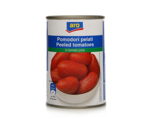 Помидоры целые очищенные в томатном соке ТМ Aro (Аро)