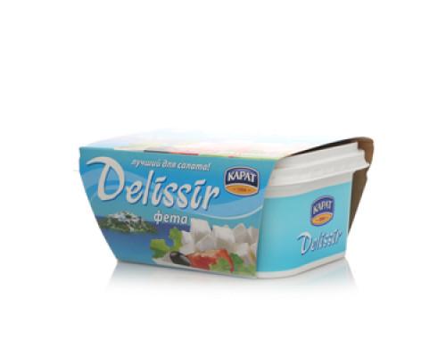 Сырный продукт Фета Delissir 55% ТМ Карат