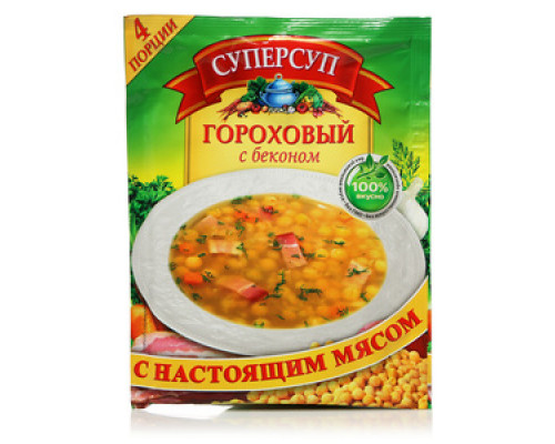 Суп гороховый с беконом ТМ Суперсуп