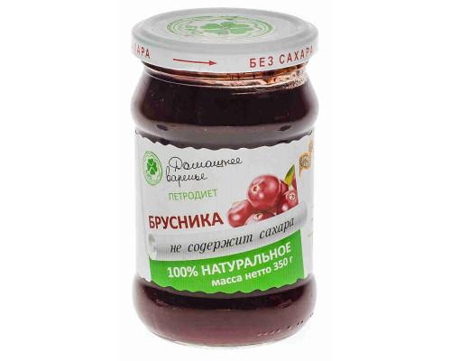 Варенье Петродиет брусника на фруктозе 350г ст/б