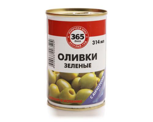 Оливки зеленые с анчоусом ТМ 365 дней