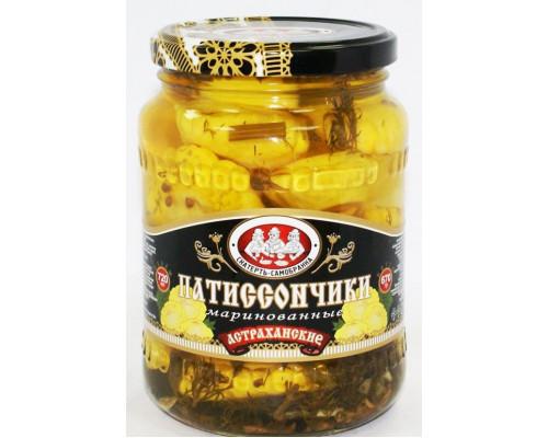 Патиссончики Астраханские ТМ Скатерть-Самобранка, маринованные, 670 г