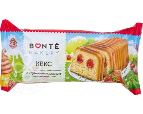 Кекс ТМ Bonte (Бонте) с клубничным джемом, 225 г