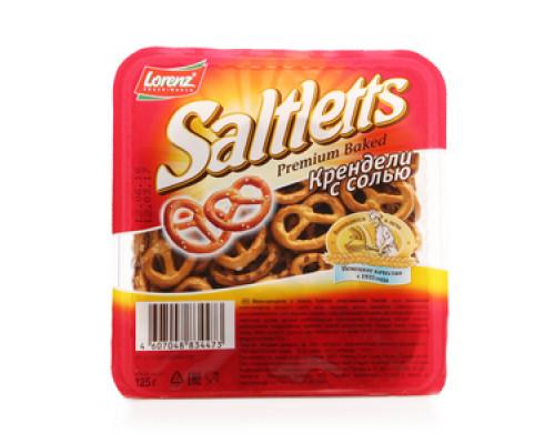 Крендели с солью Saltletts Premium Baked TM Lorenz (Лоренз)
