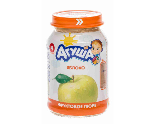 Пюре Агуша яблоко с 4мес 200г ст/б