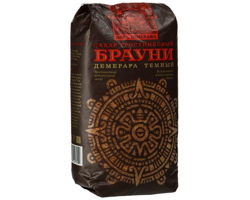 Сахар ТМ Брауни, тростниковый, Демерара темный, 900 г